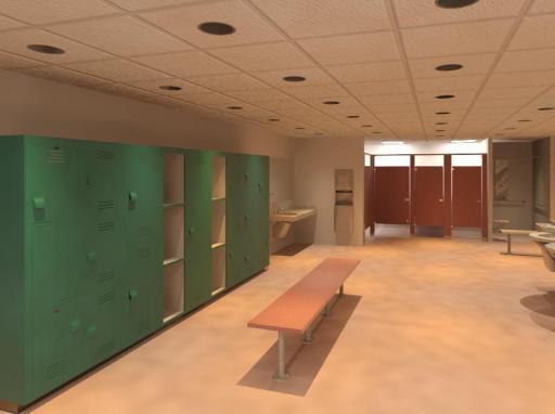 Bradley Lockerroom | Revit Toilet Partitions-Lockers-Lavatories