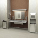 Click to Enlarge | Bradley Diplomat Toilet Room Accessories and Bradley Verge Lavatory Installation
