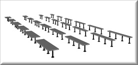 Download Bradley Revit Pedestal Bench for Locker Rooms - Revit Family Catalog