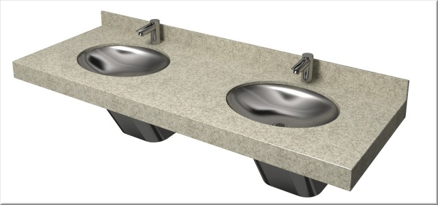View Bradley Omnideck LD-4010 Lavatory Sink System | Product Page