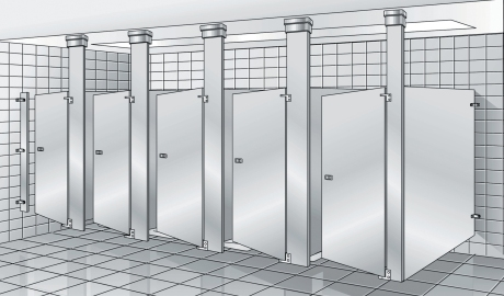 Bradley Mills Toilet Partitions | Series 600 Stainless