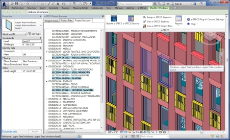 e-SPECS Construction Specifications for Revit