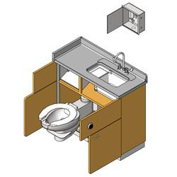 Prefabrication | Bradley Lavatory Systems \ Patient Care \ Emergency Fixture Revit Families