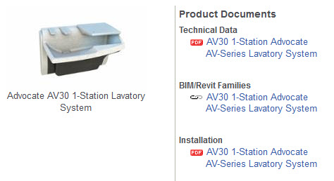 View Advocate AV30 | 1 Station Lavatory System | Product Page