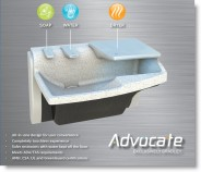 Click to Enlarge - Advocate AV Series | Compact Touchless Handwashing System