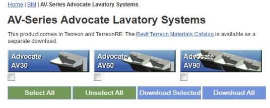 View-Download AV-Series Advocate Lavatory Systems | Revit Family Models
