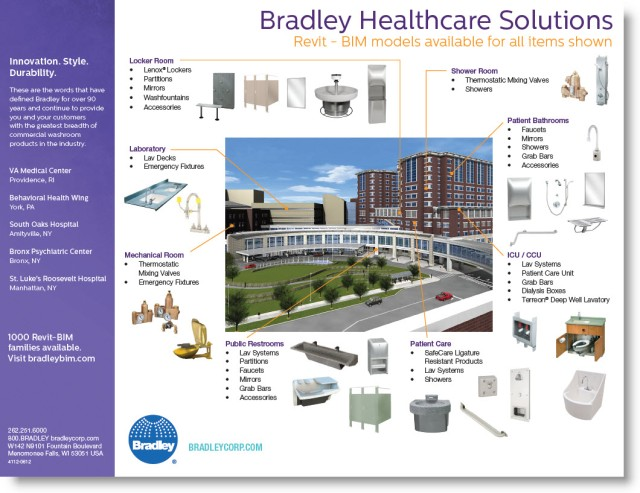 Download-View Bradley Hospital Healthcare Products | Revit Family BIM Model Guide