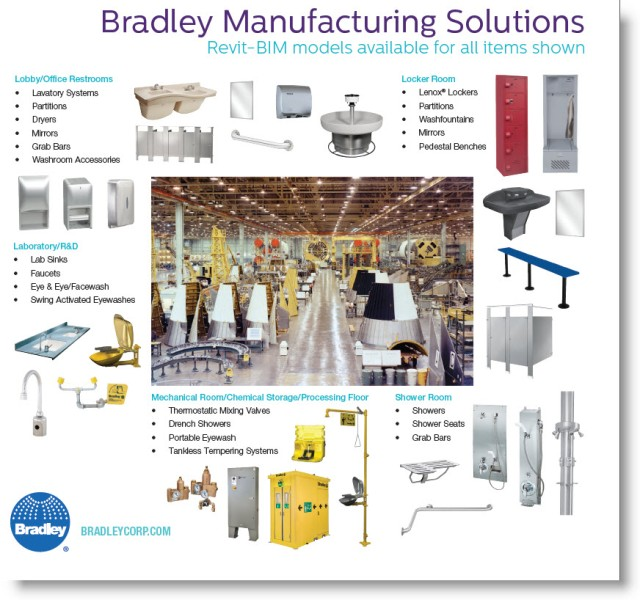 Download-View Bradley Manufacturing Facility Products | Revit Family BIM Model Guide