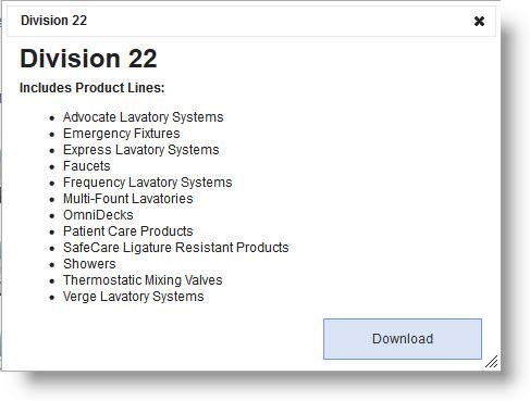 Download Bradley Division 22 Revit Family Models Dialogue Box