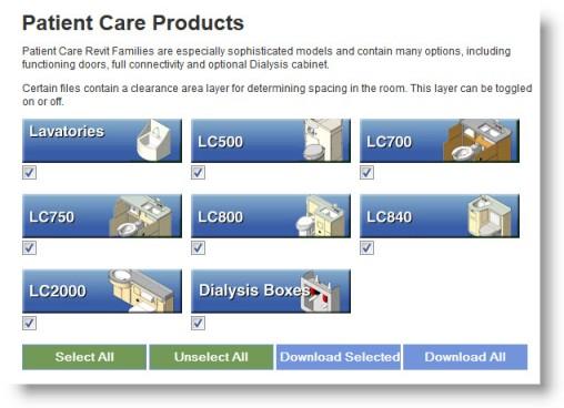 View-Download Complete Bradley Patient Care Units - Revit Family Models