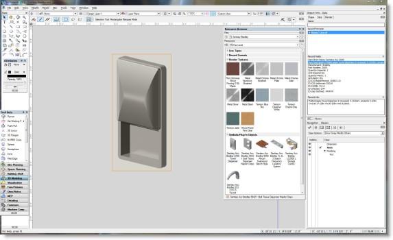 Vectorworks BIM Model | Bradley Diplomat Paper Towel Dispenser Holder