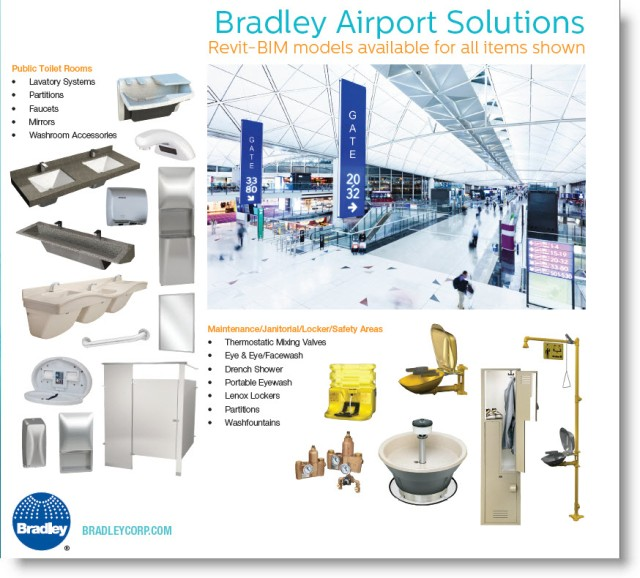 Download Bradley Airport Product Design Solutions   Revit Family BIM Model Sample Guide