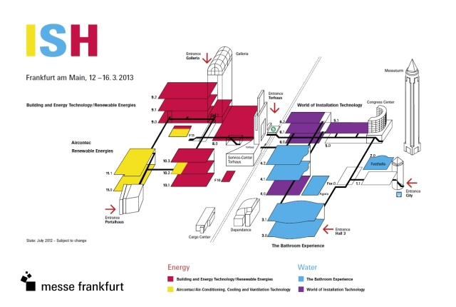 Pick for Larger View - ISH 2013 Exhibition Grounds and Floor Plans - Frankfurt Germany