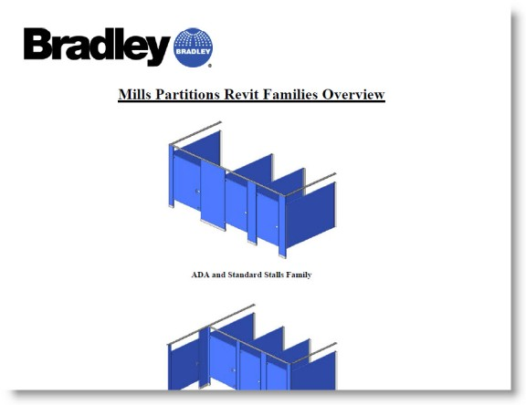 Bradley Revit Toilet Partitions | README Bradley Partition Instructions Revit