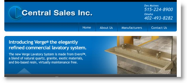 Central Sales Inc Website - Bradley Rep Organization