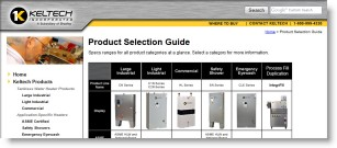 View the Keltech Tankless Water Heater Product Selection Guide