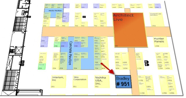Go To Bradley Booth Map | Booth #951 | AIA 2013 National Convention