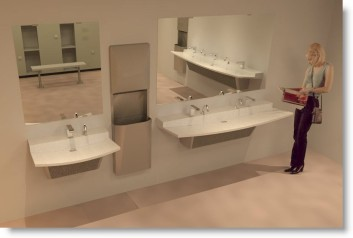 Download Bradley Verge VLD Revit Lavatory – Sink Library