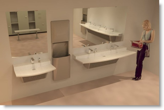 View - Download Bradley Verge 1-2-3 Station VLD-Series Lavatory - Sink Family Library