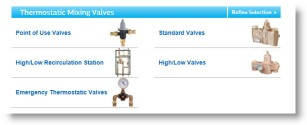 View Bradley Thermostatic Mixing Valve Product Pages, Tech Data Sheets & 3-Part Construction Specifications.