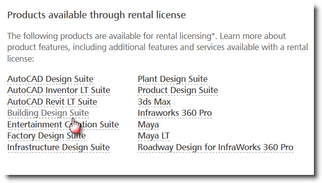 Autodesk Software Rental Plans | Monthly – Quarterly – Annually