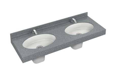 LD3010-HS-TO1 Omnideck with Oval Multipurpose Basin