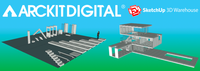 View ArcKit Architectural Model Building Kit Website - SketchUp 3D Warehouse Integration