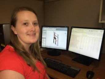 Rachel Hughes, Revit\BIM Support Technician (paid summer intern) --has been piloting our Bradley BIM 2.0 Revit Library Update.