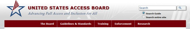 View The United States Access Board Website