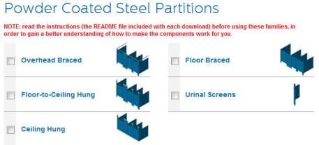 View - Download Bradley (Mills) Powder-Coated Steel Toilet Partition Revit Models