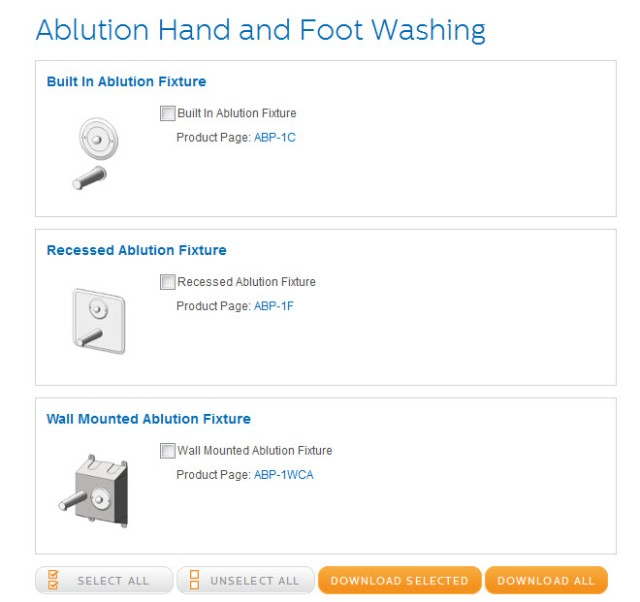 View - Download Bradley Ablution Fixture Revit Library