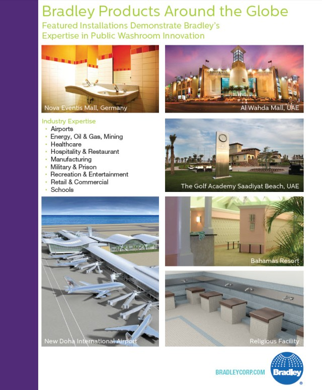 Bradley Products Around The Globe | Bradley International Projec Installations