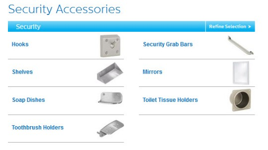 View Bradley Corporation Security Accessories Product Pages