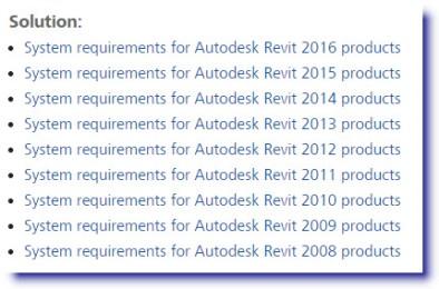 View Autodesk Revit 2016 System Requirements Page