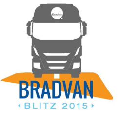 Bradley 2015 BradVan BLITZ | Mobile Showroom Travel Calendars