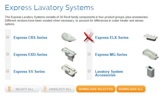 View-Download Bradley ELX Express Lavatory System Revit Family Library Download