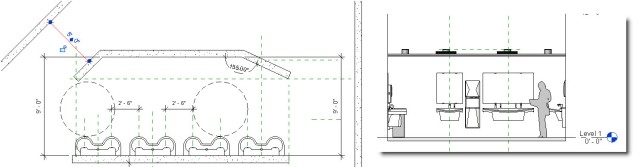 Revit Project Reference Planes for Toilet Room Design Layouts