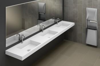 Solid Surface Wash Station Design